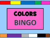 Colors BINGO- ESL Colors Vocabulary
