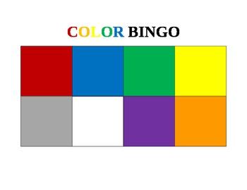 Colors BINGO Game - Scaffolded