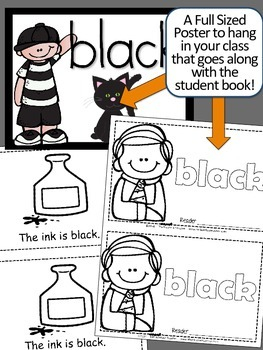 Colors {BLACK} Emergent Reader & Class Poster