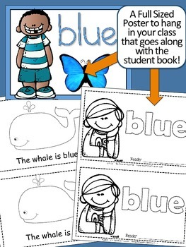 Colors {BLUE} Emergent Reader & Class Poster