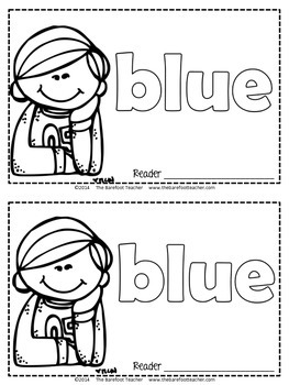 Colors {BLUE} Emergent Reader & Class Poster