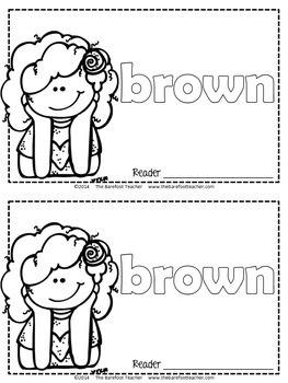 Colors {BROWN} Emergent Reader & Class Poster