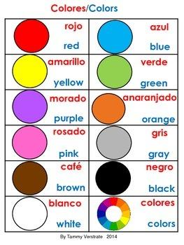 Colors Bilingual Posters