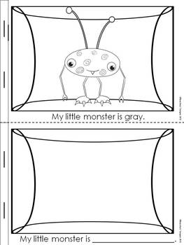 Learning Colors Booklet: My Little Monsters