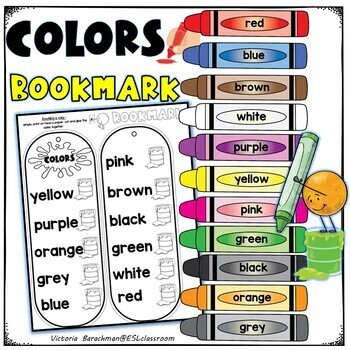 Colors Bookmark ( including grey & gray )