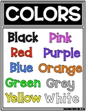Colors Bulletin Board Phonics Poster Freebie