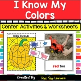 Colors Center Activities and Worksheets