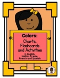 Colors Chart in English, Haitian Creole, French and Spanish