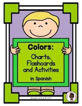 Colors Chart: Spanish