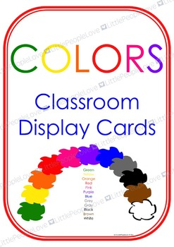 Colors Classroom Display Cards