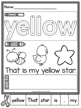 Colors: Color Word Activities