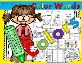Colors & Color Words (Emergent Readers, Flip Books, Graph, Brown Bear & More!)