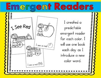 Colors & Color Words (Emergent Readers, Flip Books, Graph, Brown Bear & More!)