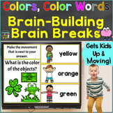 Colors, Color Words with Brain Breaks, Movement  for Googl