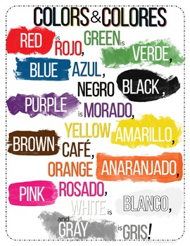 Colors & Colores Poster