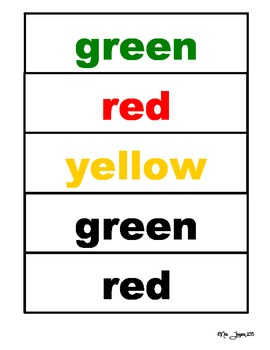 Colors, Colors! File Folder Activity