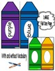 Colors/Colours-Word Wall Crayon Cards and Student Booklet-English Version