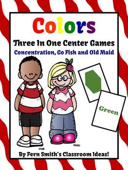 Colors Concentration, Go Fish and Old Maid Center Games Dollar Deal