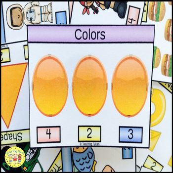 Colors Count and Clip Task Cards
