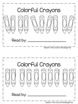 Colors & Crayons Theme: Emergent Reader & Math mini-Pack {Common Core Aligned}