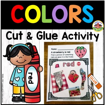 Color Recognition Cut and Glue Activity