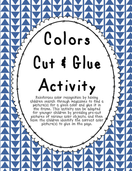 Colors Cut & Glue Activity