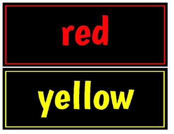 Colors, Days of the Week, Months signs for Primary Classroom