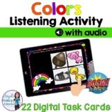Colors Digital Listening Activity BOOM Cards