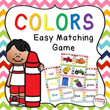 Easy Color Matching Game {FREE}