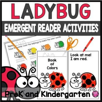 Colors Emergent Reader and Coloring Activity with Ladybug Theme