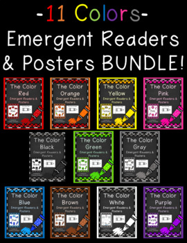Colors Emergent Readers & Posters BUNDLE {11 sets included!}