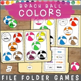 Colors File Folder Games : Beach Balls