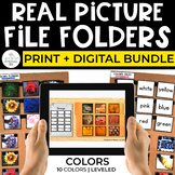 Colors File Folders Bundle for Special Ed (REAL PICTURES):