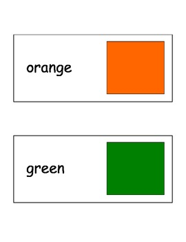 Colors Flash Cards in English