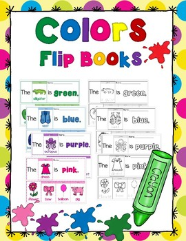 Learning Colors Flip Books - Trace, Color, Cut and Paste