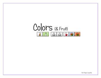 "LAMP AAC book- ""Colors"" (& Fruit)"