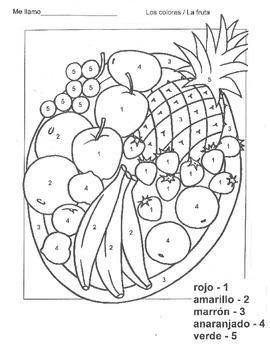Colors Fruit Bowl Activity