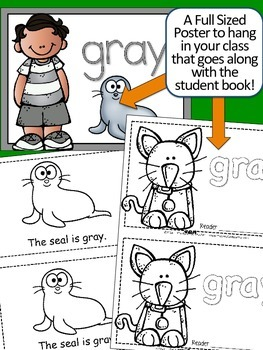 Colors {GRAY} Emergent Reader & Class Poster