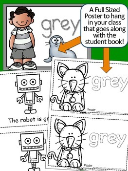 Colors {GREY} Emergent Reader & Class Poster