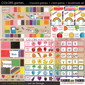 Colors Games - a 7 part colors recognition and reading set
