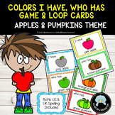 Colors I Have Who Has Game and Loop Cards - Apples & Pumpk