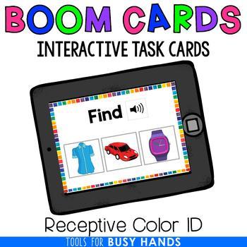 Colors Identification Digital Interactive Task Cards (Boom! Deck)