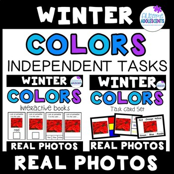 Colors Independent Tasks REAL PHOTOS (Books and Task Cards)- WINTER
