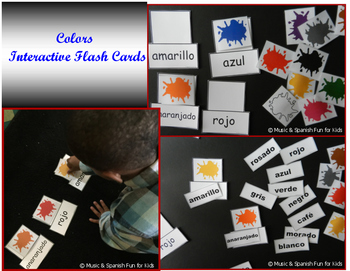 Colors- Interactive Flash Cards-Spanish