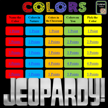 Colors Interactive Jeopardy