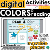 Colors Learning and READING for Google Classroom Activitie