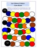 Spanish Colors Los Colores Game Board