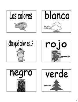 Colors (Los colores) Bulletin Board/Flash Cards in Spanish English!