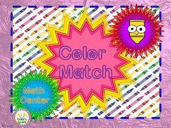 Colors Match A Math Center Game