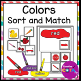 Colors Match and Sort Interactive Book